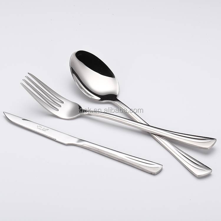 18/10 or 18/8 or 18/0 stainless steel 24 pcs Hot selling Flatware Sets with STAIN