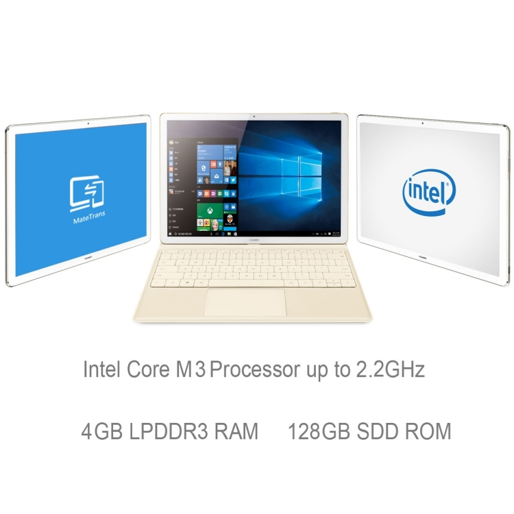 Chinese Supplier HUAWEI MateBook M3 HZ-W09 128GB 12.0 inch Windows 10 HOME Intel Core M3 Dual Core Tablet PC with Keyboard Case