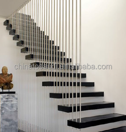 Attractive Indoor Floating Staircase, Indoor Floating Staircase Suppliers And  Manufacturers At Alibaba.com