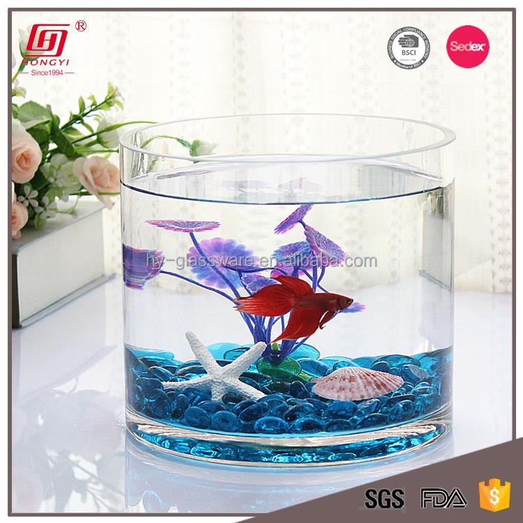 Hongyi Cylinder Small Aquarium Glass Table Fish Tank Buy Cylinder