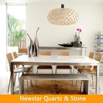 Quartz Stone Corrner Dining TableCream Stone Quartz Countertop