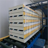 Heat retaining polyurethane PU sandwich panels for all steel construction
