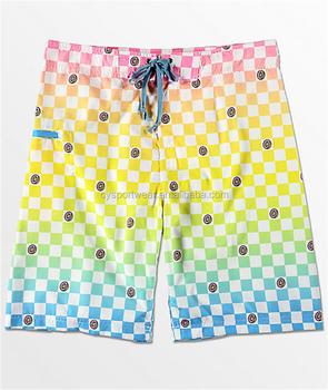e45e6b34facb5 custom design your own fashion polyester spandex 4 way stretch sublimation  surf mens Board Shorts Coolmax