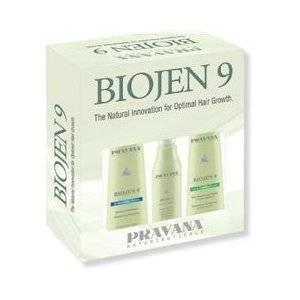 PRAVANA NATURCEUTICALS Biojen 9 3 Piece Kit~Natural Innovation for Optimal Hair Growth