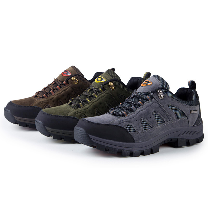 Women/Mens Hiking Shoes Zapatos Outdoor Hombre Men Leather Climbing  Trekking Shoes Hunting Boots Zapatillas Trail Senderismo