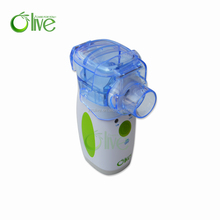 olive portable rechargeable mesh nebulizer with battery