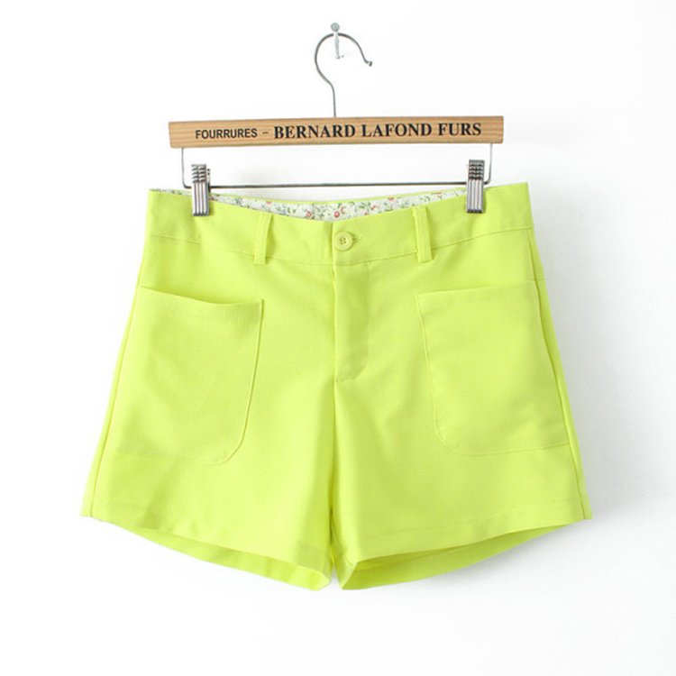 2015 New Suit Shorts Fashion Candy Colors Girls Shorts Women Casual Summer Style Loose Plus size Short Feminino Short Pants