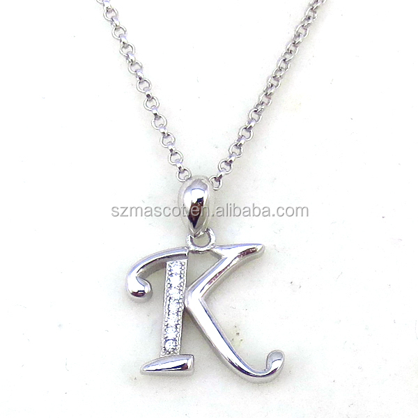 Fashion Letter K Indian Silver Pendant Jewelry Designs