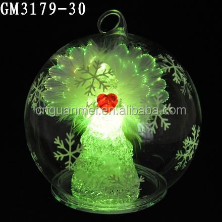 wholesale 2018 newest products accept personal tailor angel statue Glass Fiber Optic Angel