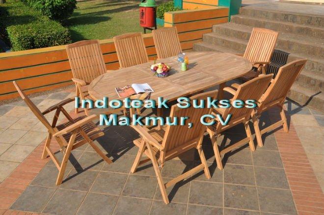 Mobili da esterno in teak set, da giardino in teak tavolo ...
