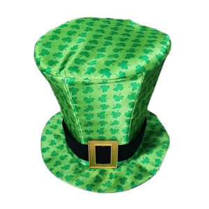 a63f156e189 W1223 Novelties Green Irish shamrocks saint patrick Day Top Hat