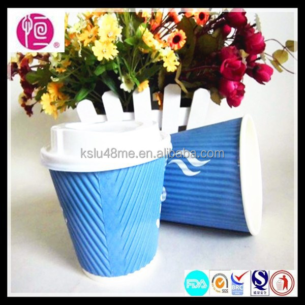 Disposable Paper Ripple Wrap Modern Custom Espresso Cups