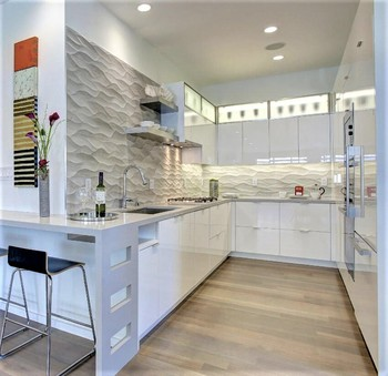 Moderne U-form Küchen Design 18mm Mdf Board Home Möbel Lack Küchenschrank  Mit Insel - Buy Moderne U Form Küche Design,Mdf Board Home Möbel,Lack ...