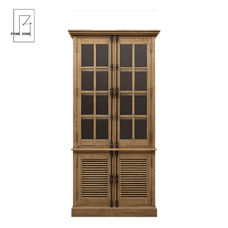 Antique style solid furniture cabinet living room,storage display cabinet,kitchen cabinet