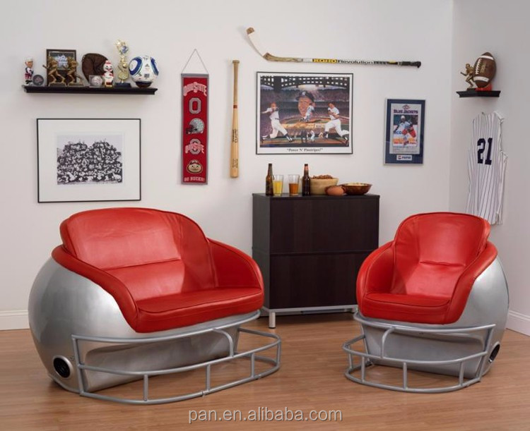 Ncaa Ohio State University Football Helmet Chair Furniture Factory Direct Buy Football Helmet
