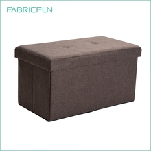 Folding fabric storage ottoman bench seat foot rest stool, ottoman with storage