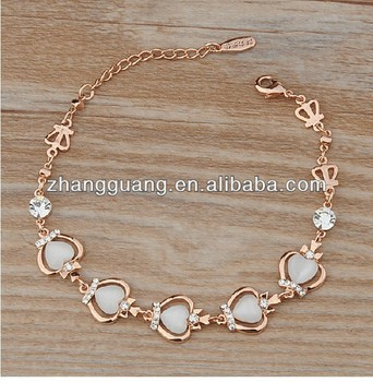 Fashion New Trends Apple Shaped Gold Jewellery Gold Alloy Bracelet