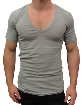 Mens Short V Neck T Shirt Made Of 100% Cotton - Fashion Cheap ...