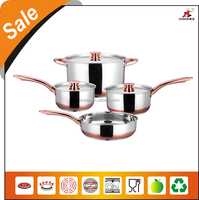 high quality stainless steel palm restaurant cookware