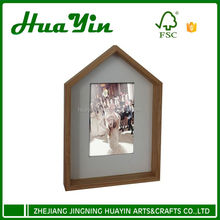 Wooden house wall hanging picture photo frame