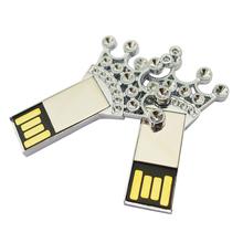 factory price full metal shinning creativity promotional goods usb key memory stick pendrive 128mb