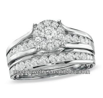 Rich Diamonds Heavy Design Framed Diamond Bridal Set Big White ...