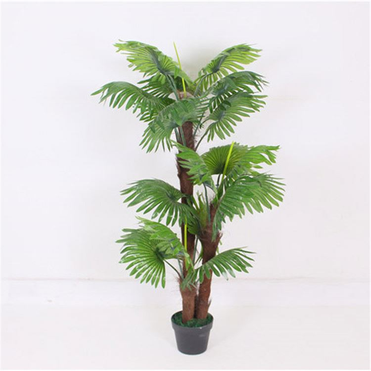 New products wholesale eco-friendly promotional plastic 19 leaves 1.2 m artificial palm tree