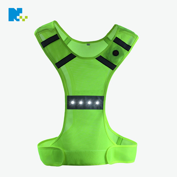 High Visibility Vest for running or Bicycle Lighting Safety LED Vest