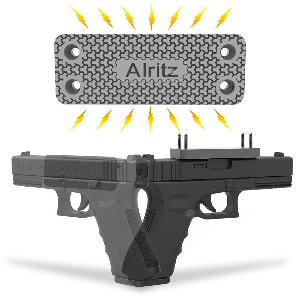 Magnet Gun Mount for Car, 42 Lbs Rubber Coated Magnetic Gun Holster, Concealed Holder for Pistol, Air Gun, Revolver, Handgun, Shotgun, Rifle in Vehicle, Truck, Desk, Wall, Home, Office
