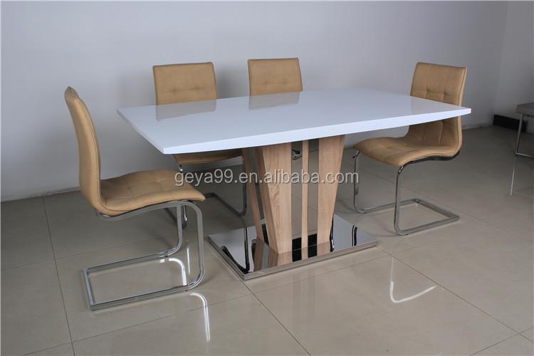 Moderne luxe houten meubelen 6 persoons eettafel en stoel te koop
