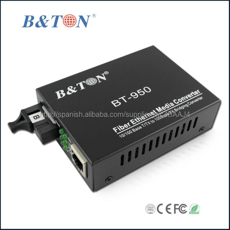 Fibra óptica conversor 100 Mbps RJ45 para Multimodo SC 2 km-Equipo ...