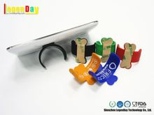 Soft Silicone Silicone Stick Mobile Phone Card Holder