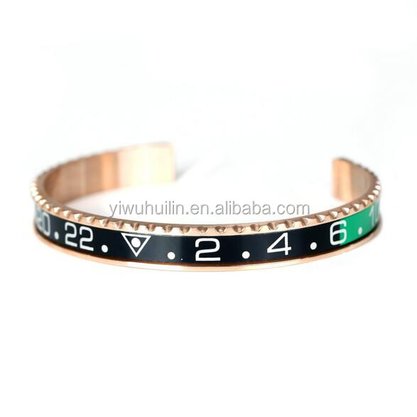 SS003 Huilin Jewelry High Quality Speedometer Official Bracelet 316l Stainless Steel 18k Gold Plated Speedometer Bracelet Bangle