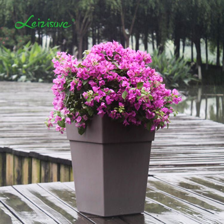 Coloured plastic plant pots different types flower pots decorative planter indoor or outdoor & Coloured Plastic Plant Pots Different Types Flower PotsDecorative ...