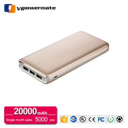 High capacity polymer li-ion battery charger protable mobile power bank 20000mah for iphone