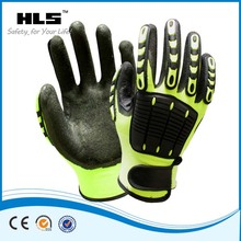 Cheap widely use cotton nitrile protective safety gloves