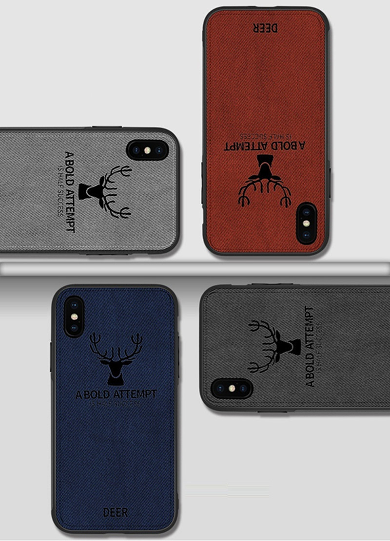 High Quality Soft TPU cloth Texture Phone Case Custom 3D Printing Shockproof Phone Cover Fashion Protective Shell For iPhone  xs