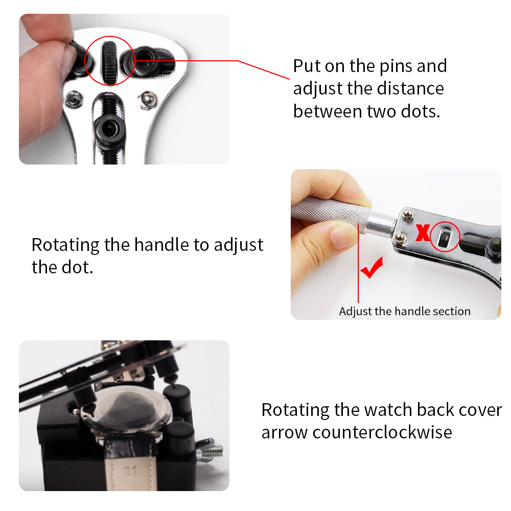 wholesale multi-function 406 pcs watch repair tool kit with watch case closer and dust blower