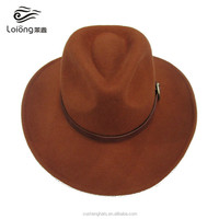 wholesale mens wool felt cowboy hats with adjustable string