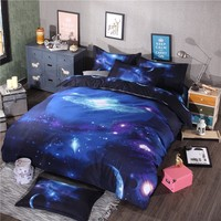 Four Piece 3D Bedding Set Space 100% Polyester Pillow Case And Bedsheet And Quilt Cover