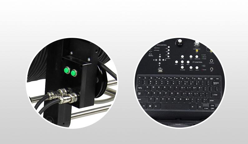 Stainless steel wheel deep well inspection camera underwater hot sale