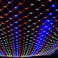 1.5M*1.5M Christmas Tree Netting Outdoor LED Fishing Net Light Ceiling Wall Window Holiday Decorative