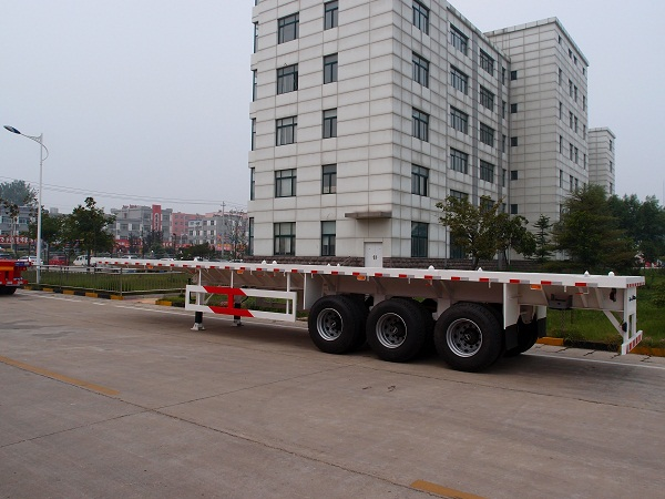 TITAN 3 axle 40ton 40ft container flatbed semi trailers for sale
