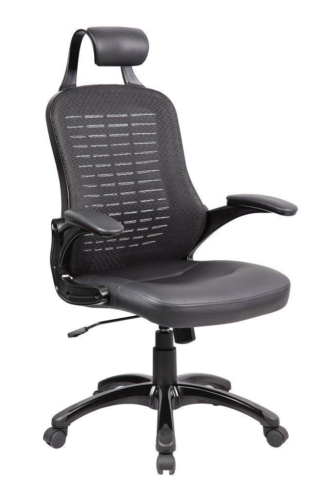 Anji Ergonomic High Back Mesh Office Desk Chair with PP Armrest and Lumbar Support ,Tilt Tension, Black