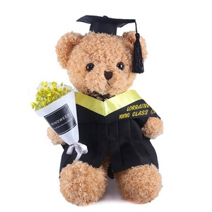 Shenzhen manufacturer custom graduation teddy bear with cap and gown