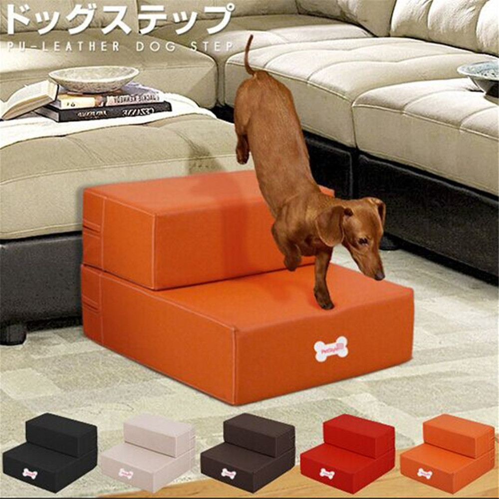 a for amazon cherry pet dp high rich steps stain inch supplies dog raised beds tread com panel carpeted premier with tall stairs bed