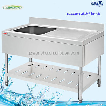 Table Top Kitchen Stainless Steel Sink Bench China Factory Dubai Market Single Bowl