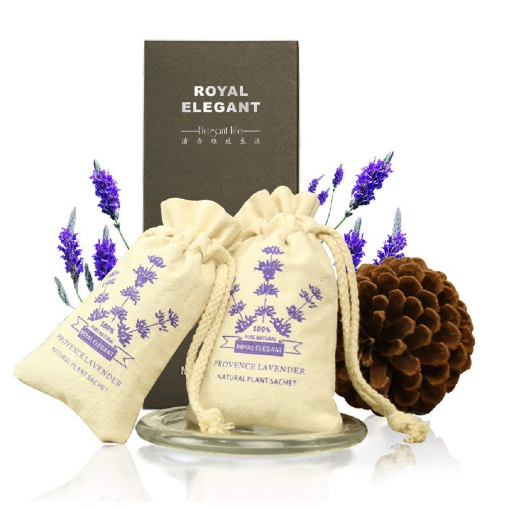 2 Pack Natural Lavender Fragrance Aromatherapy Lavender Scent,French Lavender Scented Sachet Gift Box for Pillow, Nightstand, Drawer, Closet, Car, Suitcase