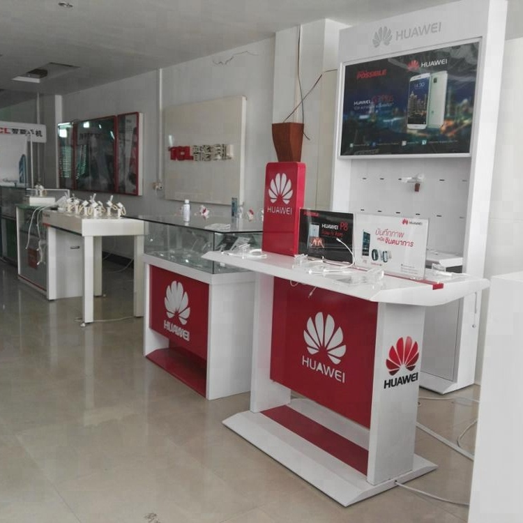 <strong>Retail</strong> High end Mobile phone Display cabinet/HUAWEI Mobile phone shop counter