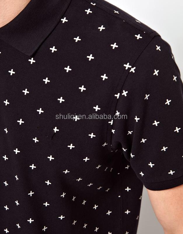 All Over Printing Stylish Man Polo Preshrink Cotton